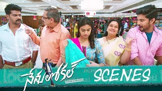 Nenu Local Movie - Saree Shopping Comedy Scene - Nani, Keerthy Suresh, Naveen - DILRAJU