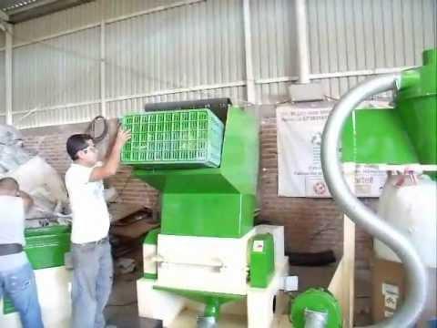 molino de 40 H.P para piezas voluminosas - moliendo pet -