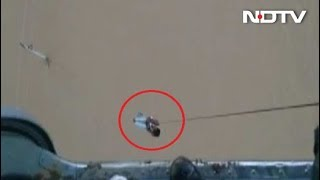 Watch: Air Force Rescues Man From Electric Pole In Flood-Hit Gujarat - NDTV