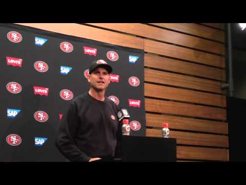 Jim Harbaugh on football players and destiny with 49ers