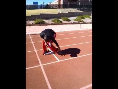 How to run faster - the basics 3 point stance and block start. Beginner