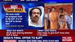 Shiv Sena offer BJP 126 seats - NEWSXLIVE