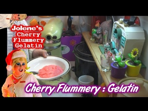 Cherry Flummery : Gelatin Day 11 : Trailer Park Christmas 2013