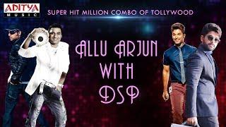 Super Hit Million Combo Of Tollywood - Allu Arjun with DSP || Telugu Songs Jukebox - ADITYAMUSIC