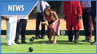 Melania Trump tries her hand at bowls during UK visit - THESUNNEWSPAPER