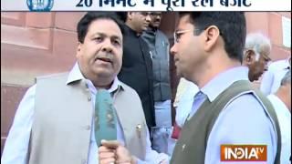 Rail Budget 2015 reactions: BJP hails `brilliant` Budget, Congress calls it `below average` - INDIATV