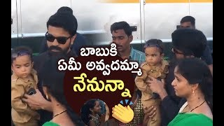 Ram Charan Kind Heart Revealed Again | Ram Charan Interacting With Fans @ Rangasthalam 1958 Sets - TFPC