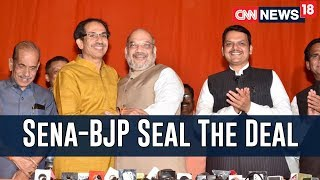 Lok Sabha Alliance Sealed, BJP To Fight On 25 Seats, Shiv Sena On 23 | Faceoff With Zakka Jacob - IBNLIVE