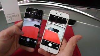 Samsung Galaxy A3 (2016) vs iPhone 6s vide