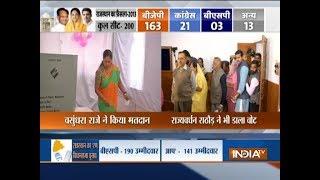 Rajasthan polls: Vasundhara Raje, Rajyavardhan Rathore cast their votes - INDIATV