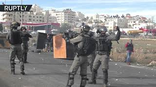 West Bank clashes: 6 injured as IDF disperse protesters - RUSSIATODAY
