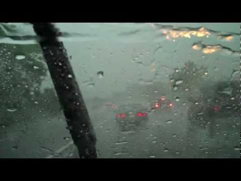DRIVING IN A DANGEROUS HEAVY RAIN STORM