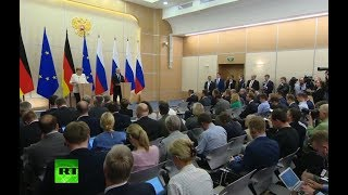 LIVE: Putin & Merkel speak to press in Sochi - RUSSIATODAY