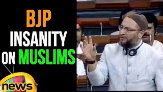 Asaduddin Owaisi Angry Speech Over BJP Insanity On Muslims | Parliament Monsoon Sessions |Mango News - MANGONEWS
