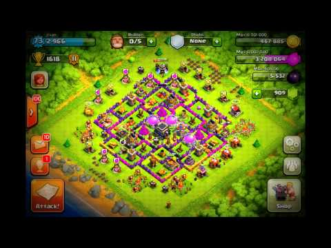 clash of clans- best defensive + farming base town hall 9 i ever made