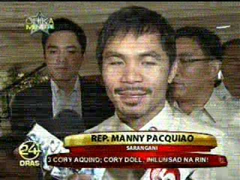 Congressman MANNY PACQUIAO's Reaction on KRISTA RANILLO Wedding - July 29, 2010