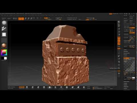 3Ds Max to ZBrush Retopology and normal map pipeline (Arabic)