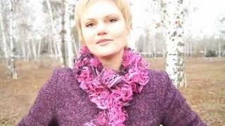 Вяжем Французский шарфик спицами из тесьмы. lace knitting scarf