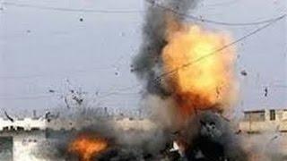 شاهد تفاصيل انفجار قنبلة بجوار سور نادي الشمس بالف مسكن