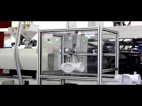 Injetora de plástico fecha com força até 380 t
