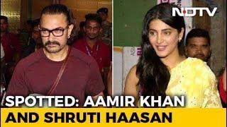 Celeb Spotting: Aamir Khan, Shruti Haasan & More - NDTV
