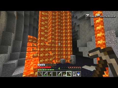 """Minecraft NAUFRAGO con ALK4PON3 y PHANTOM Ep. 4 """" La Cueva de Lava """""""