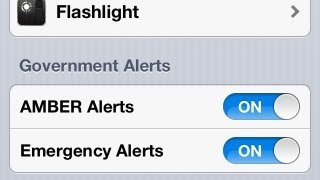 iPhone HOW TO: Turn On / Off AMBER ALERTS & Emergency Notifications [4S 5 5S]
