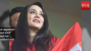 Preity Zinta delighted at Mumbai Indians' exit from the IPL 2018 - TIMESOFINDIACHANNEL