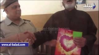 بالفيديو والصور.. مديرية أمن بني سويف تكرم المسنين بدار الخير والبركة شرق النيل