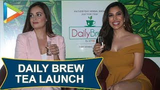 Dia Mirza and Sophie Choudry at the Daily Brew Tea launch in Mumbai - HUNGAMA