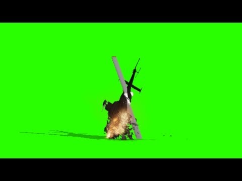 Helicopter crashes - green screen effects