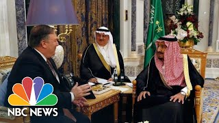 Mike Pompeo Meets Saudi King Over Mysterious Disappearance Of Jamal Khashoggi | NBC News - NBCNEWS
