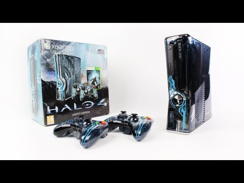 Xbox 360 Halo 4 Limited Edition Console Unboxing (Halo 4 Bundle 320GB)