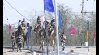 28,Feb 2015 - Women cadre of India's paramilitary force set out on month-long camel safari - ANIINDIAFILE