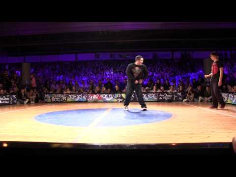 Streetstar 2012 Popping Final - Juste Debout Prelims - Greenteck &amp; Devious vs Baby Bang &amp; Spazm [HD]
