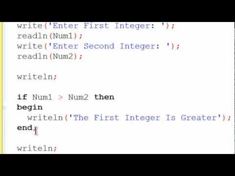 Free Pascal Program Tutorial 5 - If Statements - Lazarus