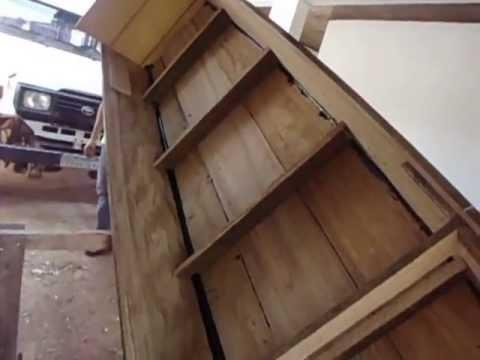 como fazer barco de madeira timburi ou timboril feito em casa