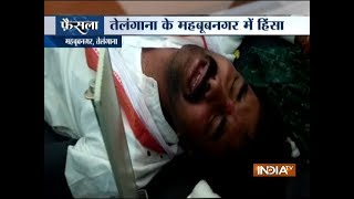 Assembly Election: Clash between BJP, Congress workers in Telangana's Mahbubnagar - INDIATV