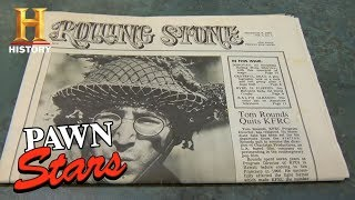 Pawn Stars: Rolling Stone Magazine Issue #1 | History - HISTORYCHANNEL
