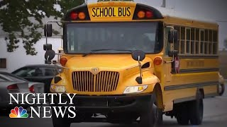 Video Captures Indiana School Bus Driver Allowing Kids To Drive Vehicle | NBC Nightly News - NBCNEWS