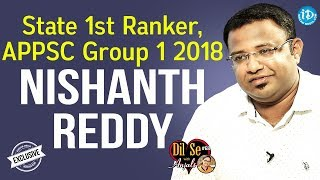 APPSC Group 1 2018 State 1st Rank Nishanth Reddy Exclusive Interview | Dil Se With Anjali #68 - IDREAMMOVIES