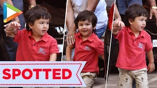 Cutie Taimur Ali Khan SPOTTED at Bandra House - HUNGAMA