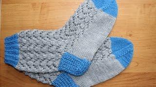 Вязание носков узором