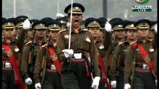 ABP LIVE Top 10 ll First all women march by army, navy and air force personnel - ABPNEWSTV