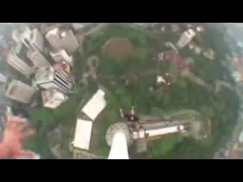 BASE Jumping off KL Tower Malaysia