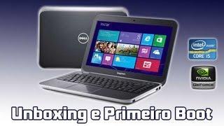 Dell Inspiron 14R: Unboxing e Primeiro Boot (PT-BR)
