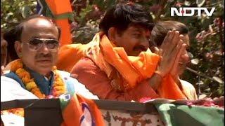 मनोज तिवारी के रोड शो में सपना चौधरी भी - NDTVINDIA