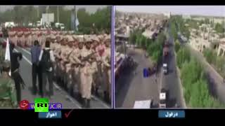 Attack on military parade in Iran caught on cam (DISTURBING) - RUSSIATODAY