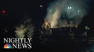 String Of Suspicious Fires Rip Through Several Jehovah Witness Centers | NBC Nightly News - NBCNEWS