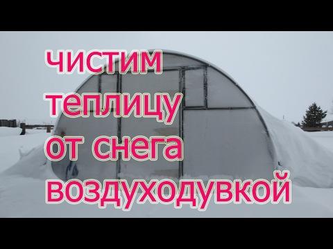Очищаем теплицу от снега воздуходувкой Штиль 600